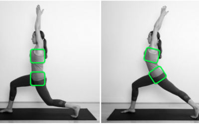 Should we use the alignment cue 'tuck the tailbone under'?
